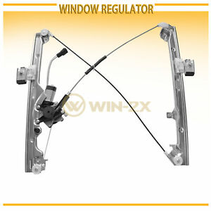 1pc Front Right Passenger Power Window Regulator W Motor Fit Cadillac Chevy Gmc
