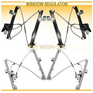Set Of 4 New Front rear Power Window Regulator W Motor Fit Chevy gmc cadillac