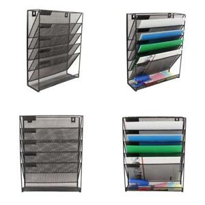 File Organizer Folder Holder Storage Wall Mounted Hanging 6 Tier For Office Tool