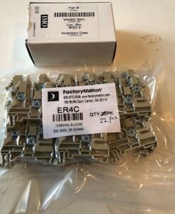 Er4c Imo Din rail Terminal Block 1in 2out 30a 600v 26 10awg Beige 22 Pcs