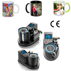 Heat Press Mug Printing Machine 2d Easy Digital Pneumatic Thermal Mug Printer Uk