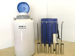 New Yds 3 3l Cryogenic Liquid Nitrogen Container 6 Pails Thermo Case Free Ship