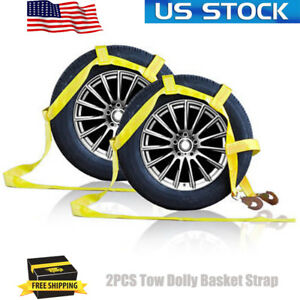 Tow Dolly Basket Strap With Twisted Snap Hooks Car Tie Down Strap Heavy Duty B04