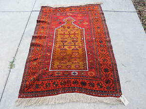 3x4ft Vintage Konya Cihanbeyli Kurdish Wool Prayer Rug