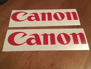 2 Canon Decal Stickers Camera Replacement Car Window Two Dslr