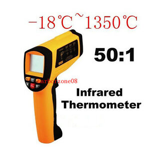 Lcd Non contact Digital Infrared Thermometer Laser Point Temperature Test 1350 c
