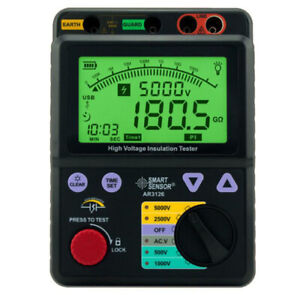 Professional High Voltage Insulation Tester 0 1000g Ohm 5000v Smart Sensor