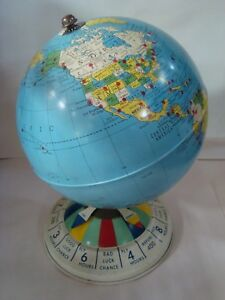 Vintage Replogle 8 Inch Magnetic Air Race Globe