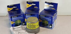 Lot Of 3 Intermatic Lc4535 480v Locking Type Photo Control
