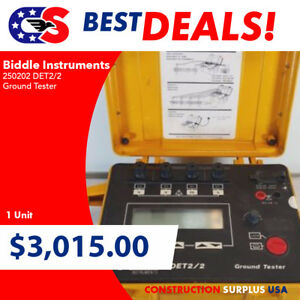 Biddle Instruments 250202 Det2 2 Ground Tester