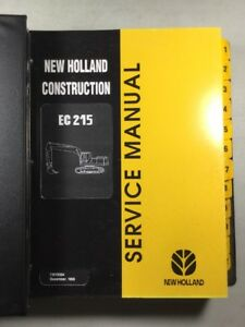 New Holland Ec215 Excavator Service Manual
