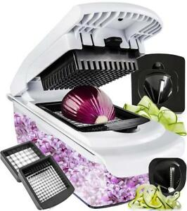 Vegetable Chopper Spiralizer Slicer Dicer Onion Food Pro Choppers And