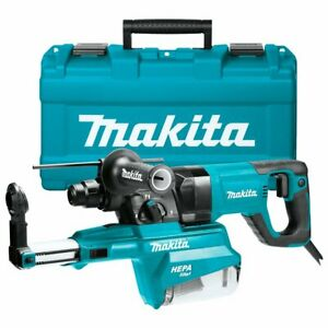 Makita Hr2661 1 inch Sds plus D handle Rotary Hammer Kit W Dust Extractor