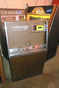 Rowe Bill Changer With Mars Bill Acceptor Coins Or Tokens Works Great 1