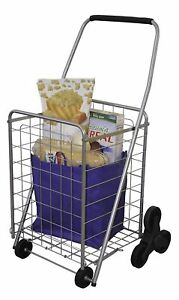 Stair Climbing Shopping Cart Folding Grocery Cart Utility Cart For Bus laundry