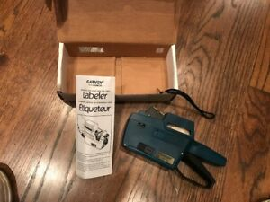 Garvey Price Labeling Gun 22 66 With Strap Box Roll Of Tape Manual Ex Cond