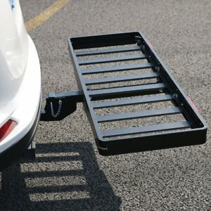 Cargo Carrier Basket Aluminum Receiver Hitch Rack 50 x 20 W 8 Support Bars
