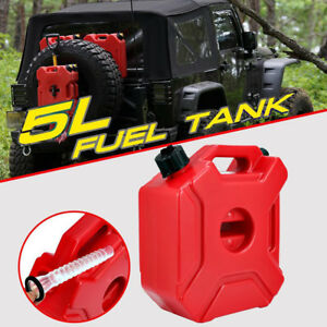 Motorcycle Car Gasoline Oil Fuel Tank Can Pack Container Jerry Can Spare Offroad