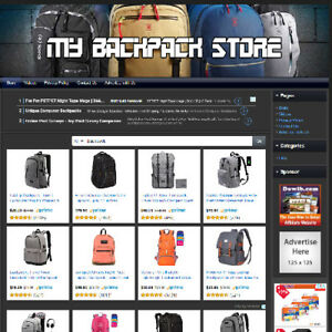 Backpack Store Profitable Work From Home Online Business Website For Sale