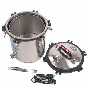 1x Stainless Steel Medical 18l High Pressure Steam Autoclave Sterilizer 110v Pgs