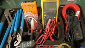 Fluke Multimeters And Klein Electricians Tool Kit 41 Piece Set