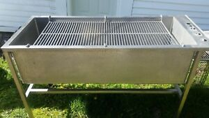 Lrg Stainless Steel Utility Wash Sink W Rack 2x5 Grooming Mechanic Commercial