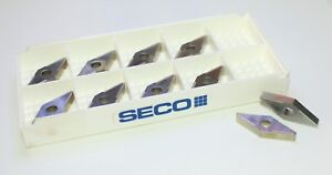 Seco Vnmg 434 mr4 883 Carbide Turning Inserts lot Of 10