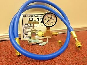 R12 Refrigerant R 12 Heavy Duty Pro can Taper With Pressure Gauge