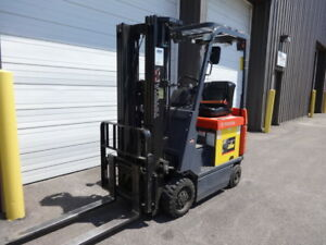 Toyota 3 000 Pound Capacity Electric Forklift Model 7fbcu15 Low Hours