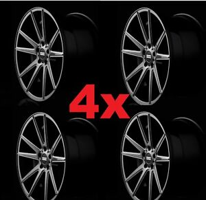 4 20 Custom Wheels Rims Staggered Fondmetal Stc05 Titanium Gray Dodge 300 5x115