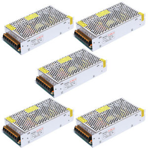 Lot 5 Dc 12v 15a 180w Switch Power Supply Driver For 5050 3528 Led Strip Light