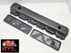Straight Inline 6 Black Valve Cover With Side Plates 194 230 250 292 Chevy Gm