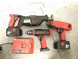Snap On 18v Cordless Kit Ctrs6850 Sawzall Ctr6850 Impact Wrench Cdr6850 Drill