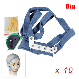 10 Dental High Pull Strap Headgear Facemask Combination Head Caps Large Akyn