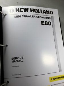 New Holland E80 Midi Excavator Service Manual