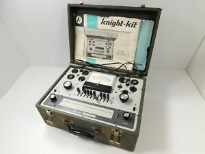 Knight Kg 600b Tube Tester For Parts Restoration Original Manual Supplement