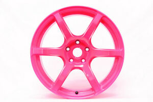 18 18x9 5 40 Rays Gram Lights 57c6 Luminous Pink Wheels Subaru Brz Wrx Fr s