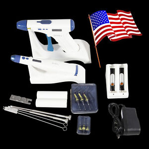 Us Stock Cordless Dental Endodontic Obturation Gutta Percha Gun Heated Pen Tips