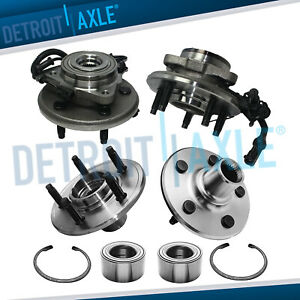 All 4 Front Rear Wheel Bearing Hub Assembly Ford Explorer Mercury Mountaineer