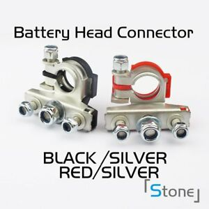 Pair Battery Terminal Clamp Steel Stainless Fast Disconnector Heavy Duty 4x4 Car