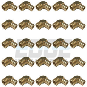 25 Pack 3 4 Hose Barb Elbow X 3 4 Male Npt Brass Pipe Fitting Gas Wog
