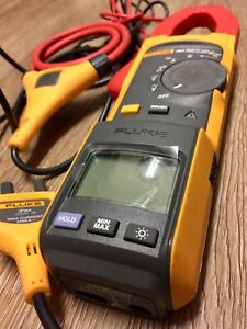 Fluke 381 Remote Display True Rms Ac dc Clamp Meter With Iflex Great Shape F381