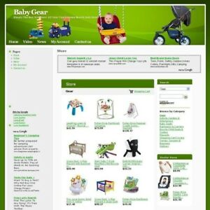 Established Online Baby Gear Store Business Website For Sale Free Domain Hosting