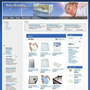 Established Online Baby Bedding Shop Business Website For Sale Home Based Income