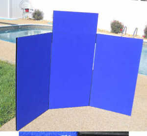 Blue Nimlok Easy 2 3 panel 66 x40 Folding Trade Show Booth Exhibit Display
