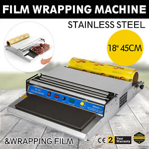 18 Food Tray Film Wrapper Wrapping Machine With 1 Film Store Stretcher Shrink