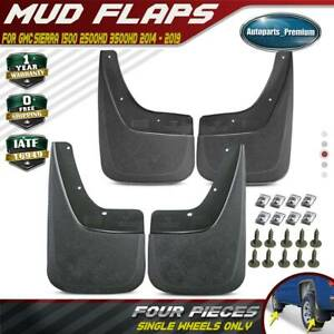 New 4pcs Mud Flaps Splash Guards For 2014 2018 Gmc Sierra 1500 2500 Hd 3500 Hd