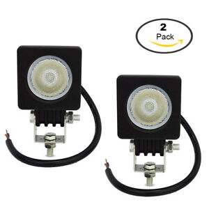 2pcs 10w Led Work Light Flood Offroad 4x4 Atv Truck Motorcycle For Lamp Usa