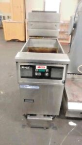 Pitco Sfssh55 Solstice Natural Gas 50 Lb Floor Fryer With Digital Display
