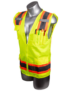 High Visibility Yellow Safety Surveyor Vest 2xl Yellow